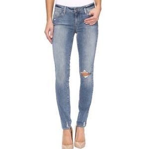 Paige Skinny Distressed Jeans Light Wash